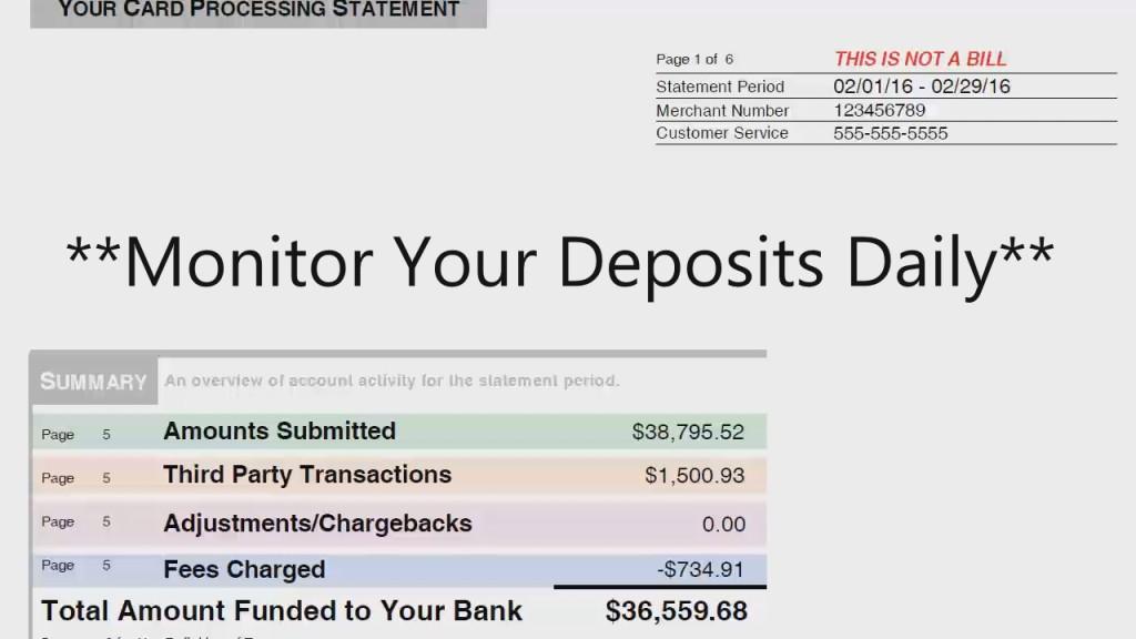 Merchant Account Summary Screenshot