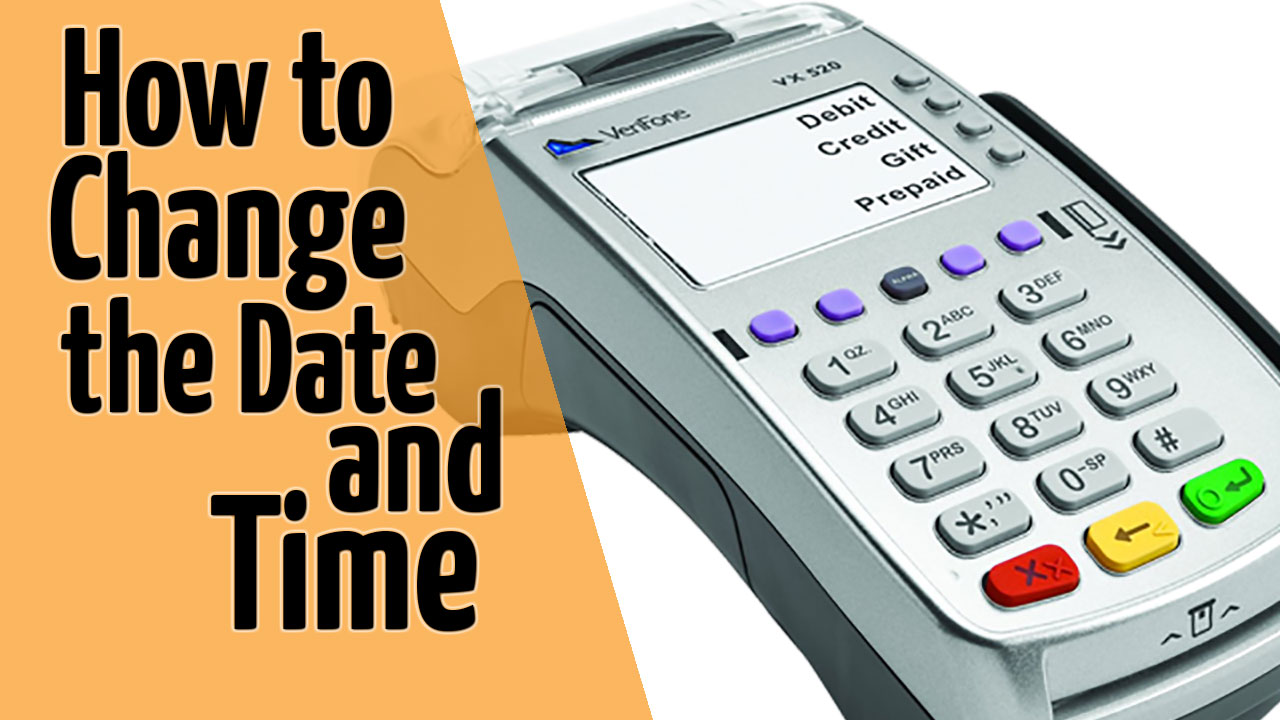 Verifone vx520 date and time