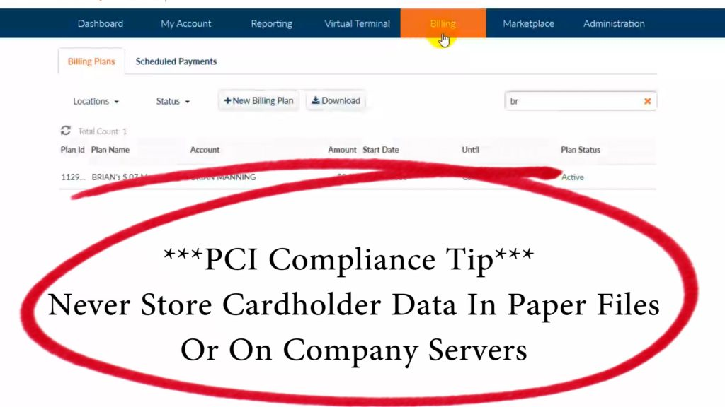 Cardpointe - PCI Compliance Tip - Never store