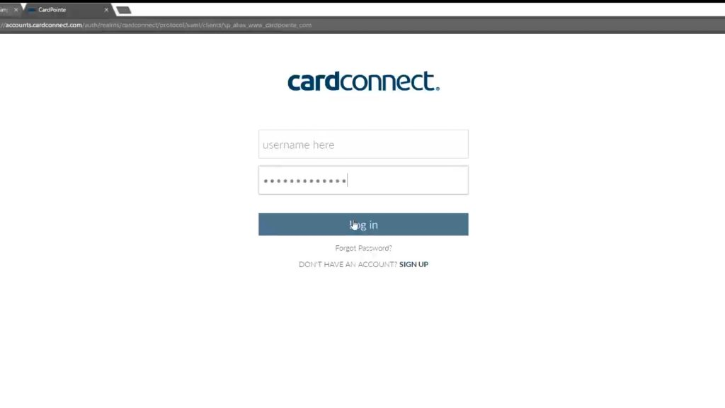 Log In To CardPointe