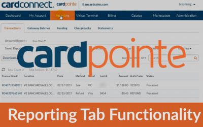 Cardpointe Reporting Tab & Custom Search Functions – Save, View & Download Reports