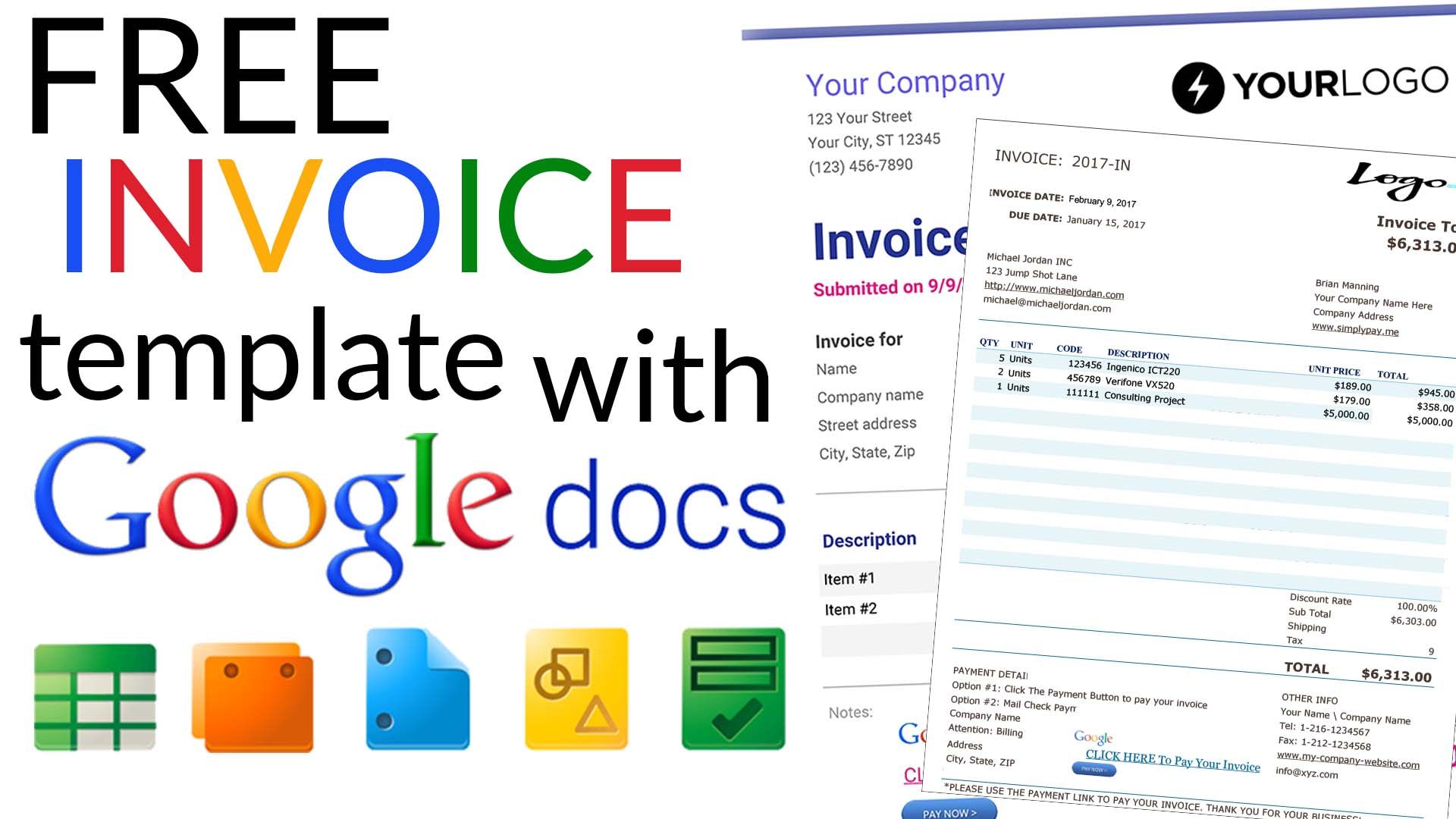 free invoice templates with google docs. Black Bedroom Furniture Sets. Home Design Ideas