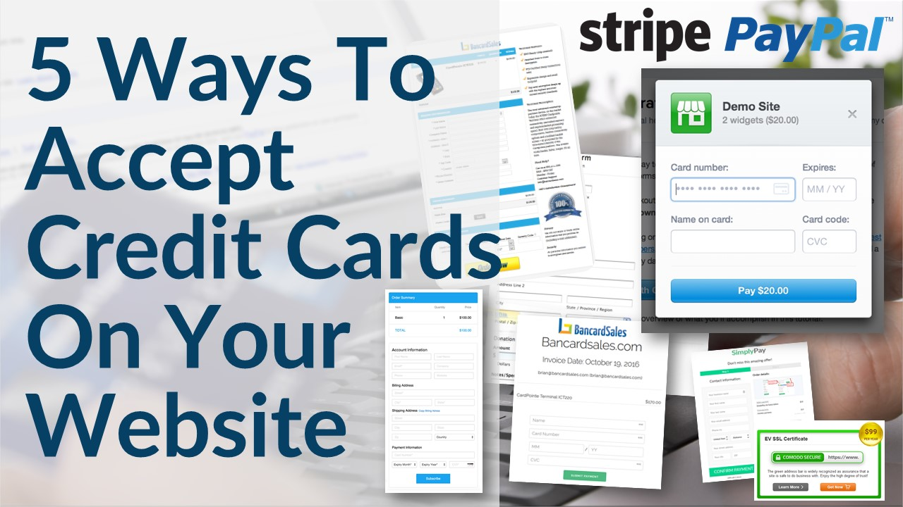 Accept credit card payments on your website 5 ways including accept credit card payments on your website 5 ways including paypal stripe merchant account options 1betcityfo Image collections