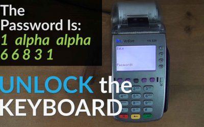 Verifone VX520 Keyboard Locked: How To Unlock The Keyboard