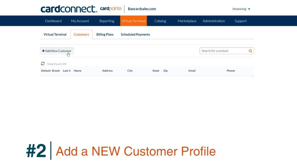 CardPointe Store Customer Profile