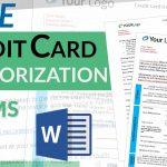 Credit Card Authorization Form - FREE Template Download for Credit Credit Card Authorization form